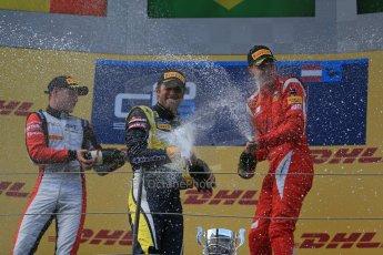 World © Octane Photographic Ltd. Saturday 21st June 2014. GP2 Race 1 – Red Bull Ring, Spielberg - Austria. Felipe Nasr - Carlin, Stoffel Vandoorne - ART Grand Prix and Raffaele Marciello - Racing Engineering. Digital Ref : 0997LB1D3654
