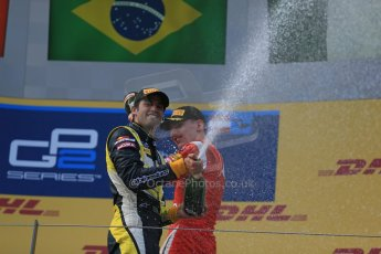 World © Octane Photographic Ltd. Saturday 21st June 2014. GP2 Race 1 – Red Bull Ring, Spielberg - Austria. Felipe Nasr - Carlin and Raffaele Marciello - Racing Engineering. Digital Ref : 0997LB1D3687