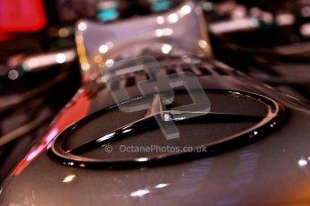 World © Octane Photographic Ltd. Autosport International Show NEC Birmingham, Thursday 9th January 2014. Mercedes F1 nose. Digital ref: 0878cj7d0030