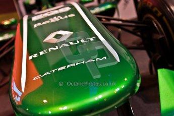 World © Octane Photographic Ltd. Autosport International Show NEC Birmingham, Thursday 9th January 2014. Caterham F1 nose. Digital ref: 0878cj7d0034