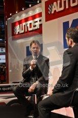 World © Octane Photographic Ltd. Autosport International Show NEC Birmingham, Thursday 9th January 2014. Malcolm Wilson. Digital ref: 0878cj7d0071