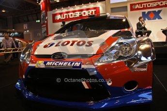 World © Octane Photographic Ltd. Autosport International Show NEC Birmingham, Thursday 9th January 2014. Robert Kubica WRC car. Digital ref: 0878cj7d0082
