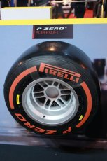 World © Octane Photographic Ltd. Autosport International Show NEC Birmingham, Thursday 9th January 2014. Pirelli tires. Digital ref: 0878lb1d8780