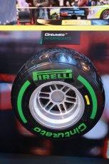 World © Octane Photographic Ltd. Autosport International Show NEC Birmingham, Thursday 9th January 2014. Pirelli tires. Digital ref: 0878lb1d8789