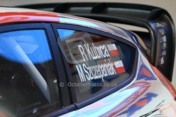 World © Octane Photographic Ltd. Autosport International Show NEC Birmingham, Thursday 9th January 2014. Robert Kubica WRC car. Digital ref: 0878lb1d8961