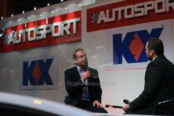 World © Octane Photographic Ltd. Autosport International Show NEC Birmingham, Thursday 9th January 2014. Jonathan Palmer. Digital ref: 0878lb1d8984