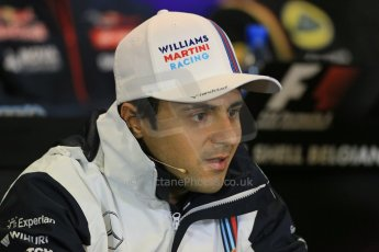 World © Octane Photographic Ltd. Thursday 21st August 2014. Belgian GP, Spa-Francorchamps - Formula 1 FIA Press Conference. Williams Martini Racing - Felipe Massa. Digital Ref: 1078LB1D6242