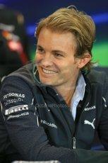 World © Octane Photographic Ltd. Thursday 21st August 2014. Belgian GP, Spa-Francorchamps Formula 1 FIA Press Conference. Mercedes AMG Petronas - Nico Rosberg. Digital Ref: 1078LB1D6291
