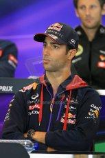 World © Octane Photographic Ltd. Thursday 21st August 2014. Belgian GP, Spa-Francorchamps - Formula 1 FIA Press Conference. Infiniti Red Bull Racing - Daniel Ricciardo. Digital Ref: 1078LB1D6321