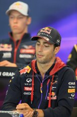 World © Octane Photographic Ltd. Thursday 21st August 2014. Belgian GP, Spa-Francorchamps - Formula 1 FIA Press Conference. Infiniti Red Bull Racing - Daniel Ricciardo. Digital Ref: 1078LB1D6378