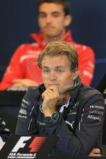 World © Octane Photographic Ltd. Thursday 21st August 2014. Belgian GP, Spa-Francorchamps Formula 1 FIA Press Conference. Mercedes AMG Petronas - Nico Rosberg. Digital Ref: 1078LB1D6393