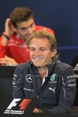 World © Octane Photographic Ltd. Thursday 21st August 2014. Belgian GP, Spa-Francorchamps Formula 1 FIA Press Conference. Mercedes AMG Petronas - Nico Rosberg. Digital Ref: 1078LB1D6427