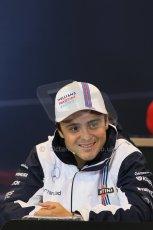 World © Octane Photographic Ltd. Thursday 21st August 2014. Belgian GP, Spa-Francorchamps - Formula 1 FIA Press Conference. Williams Martini Racing - Felipe Massa. Digital Ref: 1078LB1D6433