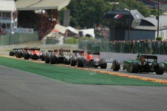 World © Octane Photographic Ltd. Sunday 24th August 2014, Belgian GP, Spa-Francorchamps. - Formula 1 Race. Caterham F1 Team CT05 – Marcus Ericsson. Digital Ref: 1090LB1D1719