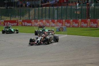 World © Octane Photographic Ltd. Sunday 24th August 2014, Belgian GP, Spa-Francorchamps. - Formula 1 Race. Lotus F1 Team E22 – Pastor Maldonado. Digital Ref: 1090LB1D1786