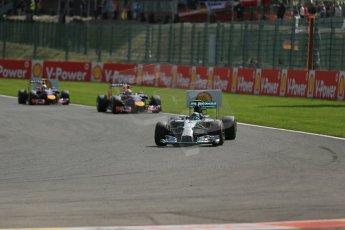 World © Octane Photographic Ltd. Sunday 24th August 2014, Belgian GP, Spa-Francorchamps. - Formula 1 Race. Mercedes AMG Petronas F1 W05 Hybrid - Nico Rosberg. Digital Ref: 1090LB1D1859