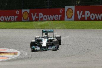 World © Octane Photographic Ltd. Sunday 24th August 2014, Belgian GP, Spa-Francorchamps. - Formula 1 Race. Mercedes AMG Petronas F1 W05 Hybrid – Lewis Hamilton. Digital Ref: 1090LB1D1963