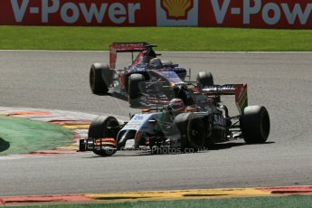 World © Octane Photographic Ltd. Sunday 24th August 2014, Belgian GP, Spa-Francorchamps. - Formula 1 Race. Sahara Force India VJM07 – Nico Hulkenburg. Digital Ref : 1090LB1D2085