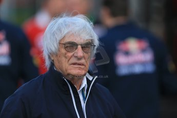 World © Octane Photographic Ltd. Sunday 24th August 2014, Belgian GP, Spa-Francorchamps. Formula 1 Paddock. Bernie Ecclestone. Digital Ref: 1088LB1D1360