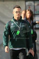World © Octane Photographic Ltd. Sunday 24th August 2014, Belgian GP, Spa-Francorchamps. - Formula 1 Paddock. Caterham F1 Team – Andre Lotterer. Digital Ref: 1088LB1D1404