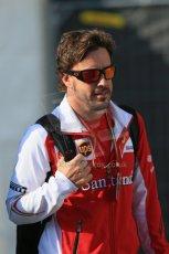 World © Octane Photographic Ltd. Sunday 24th August 2014, Belgian GP, Spa-Francorchamps. - Formula 1 Paddock. Scuderia Ferrari - Fernando Alonso. Digital Ref: 1088LB1D1427