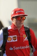 World © Octane Photographic Ltd. Sunday 24th August 2014, Belgian GP, Spa-Francorchamps. - Formula 1 Paddock. Scuderia Ferrari – Kimi Raikkonen. Digital Ref: 1088LB1D1436