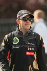 World © Octane Photographic Ltd. Sunday 24th August 2014, Belgian GP, Spa-Francorchamps. - Formula 1 Paddock. Lotus F1 Team – Pastor Maldonado. Digital Ref: 1088LB1D1549