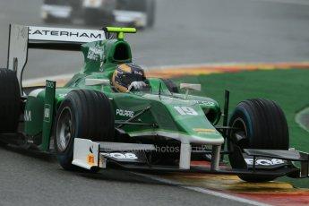 World © Octane Photographic Ltd. Friday Saturday 23rd August 2014. GP2 Race 1 – Belgian GP, Spa-Francorchamps. Tom Dillmann - EQ8 Caterham Racing. Digital Ref : 1086LB1D0919