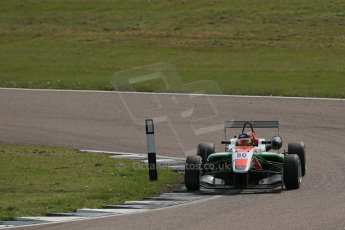 World © Octane Photographic Ltd. Cooper Tyres British Formula 3 (F3). Rockingham - Qualifying, Sunday 4th May 2014. Dallara F312 Mercedes HWA – Sam Macleod - Fortec Motorsports. Digital Ref : 0920lb1d1678