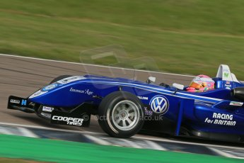 World © Octane Photographic Ltd. Cooper Tyres British Formula 3 (F3). Rockingham - Race, Sunday 4th May 2014. Dallara F310 Volkswagen – Alice Powell – Carlin. Digital Ref : 0921lb1d2391