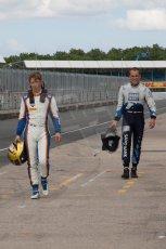 World © Octane Photographic Ltd. Friday 4th July 2014. GP2 Qualifying Session –British GP - Silverstone - UK. Johnny Cecotto - Trident and Marco Sorensen - MP Motorsport. Digital Ref : 1014JM1D1144