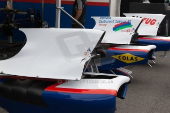 World © Octane Photographic Ltd. Thursday 3rd July 2014. GP3 paddock, Silverstone - UK. Jenzer Motorsport airbox covers. Digital Ref :  1008JM1D0961