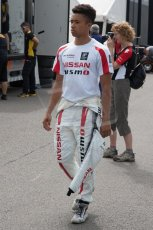 World © Octane Photographic Ltd. Thursday 3rd July 2014. GP3 paddock, Silverstone - UK. Jann Mardenborough - Arden International. Digital Ref : 1008JM1D0995
