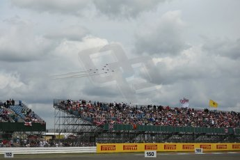 World © Octane Photographic Ltd. Saturday 5th July 2014. British GP, Silverstone, UK. - Formula 1 Paddock. Royal Air Force Red Arrows. Digital Ref: 1025LB1D0330