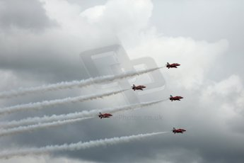 World © Octane Photographic Ltd. Saturday 5th July 2014. British GP, Silverstone, UK. - Formula 1 Paddock. Royal Air Force Red Arrows. Digital Ref: 1025LB1D0346