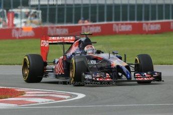 World © Octane Photographic Ltd. Friday 6th June 2014. Canada - Circuit Gilles Villeneuve, Montreal. Formula 1 Practice 2. Scuderia Toro Rosso STR 9 – Daniil Kvyat. Digital Ref: 0979LB1D3758