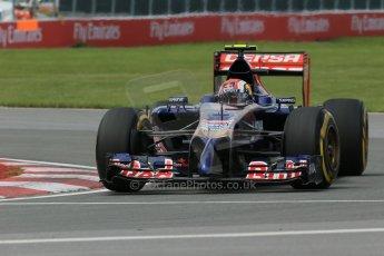 World © Octane Photographic Ltd. Friday 6th June 2014. Canada - Circuit Gilles Villeneuve, Montreal. Formula 1 Practice 2. Scuderia Toro Rosso STR 9 – Daniil Kvyat. Digital Ref: 0979LB1D3878