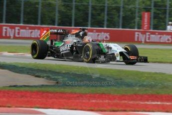 World © Octane Photographic Ltd. Friday 6th June 2014. Canada - Circuit Gilles Villeneuve, Montreal. Formula 1 Practice 2. Sahara Force India VJM07 – Nico Hulkenburg. Digital Ref : 0979LB1D3918