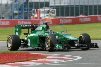 World © Octane Photographic Ltd. Friday 6th June 2014. Canada - Circuit Gilles Villeneuve, Montreal. Formula 1 Practice 2. Caterham F1 Team CT05 – Kamui Kobayashi. Digital Ref: 0979LB1D3952