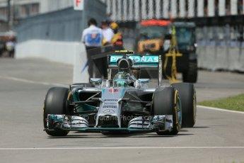 World © Octane Photographic Ltd. Friday 6th June 2014. Canada - Circuit Gilles Villeneuve, Montreal. Formula 1 Practice 2. Mercedes AMG Petronas F1 W05 Hybrid - Nico Rosberg. Digital Ref: 0979LB1D3995