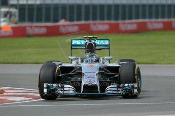 World © Octane Photographic Ltd. Friday 6th June 2014. Canada - Circuit Gilles Villeneuve, Montreal. Formula 1 Practice 2. Mercedes AMG Petronas F1 W05 Hybrid - Nico Rosberg. Digital Ref: 0979LB1D4064
