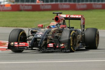 World © Octane Photographic Ltd. Friday 6th June 2014. Canada - Circuit Gilles Villeneuve, Montreal. Formula 1 Practice 2. Lotus F1 Team E22 - Romain Grosjean. Digital Ref: 0979LB1D4191
