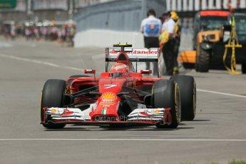 World © Octane Photographic Ltd. Friday 6th June 2014. Canada - Circuit Gilles Villeneuve, Montreal. Formula 1 Practice 2. Scuderia Ferrari F14T – Kimi Raikkonen. Digital Ref: 0979LB1D4220