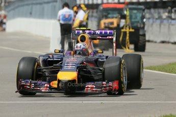 World © Octane Photographic Ltd. Friday 6th June 2014. Canada - Circuit Gilles Villeneuve, Montreal. Formula 1 Practice 2. Infiniti Red Bull Racing RB10 – Daniel Ricciardo. Digital Ref: 0979LB1D4271