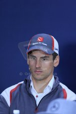 World © Octane Photographic Ltd. Formula 1 Canada – Circuit Gilles Villeneuve, Montreal. Thursday 5th June 2014. Drivers' press conference. Sauber – Adrian Sutil. Digital Ref : 0977LB1D1377