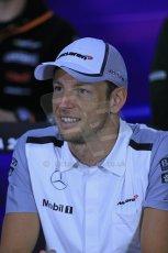 World © Octane Photographic Ltd. Formula 1 Canada – Circuit Gilles Villeneuve, Montreal. Thursday 5th June 2014. Drivers' press conference. McLaren Mercedes - Jenson Button. Digital Ref : 0977LB1D1459