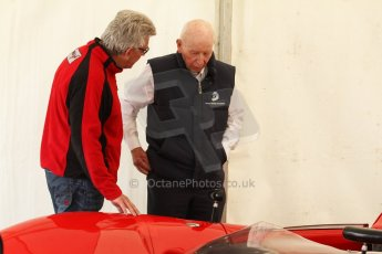 World © Octane Photographic Ltd. Donington Historic Festival, May 4th 2014. John Surtees OBE with his Lola Can Am car. Digital Ref : 0918cb7d8523