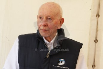 World © Octane Photographic Ltd. Donington Historic Festival, May 4th 2014. John Surtees OBE. Digital Ref : 0918cb7d8545