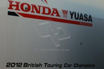World © Octane Photographic Ltd. Donington Park general unsilenced test day, 13th February 2014. Honda Yuasa British Touring Car Championship (BTCC) transporter. Digital Ref : 0891cb1d2152