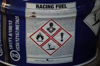World © Octane Photographic Ltd. Donington Park general unsilenced test day, 13th February 2014. Racing fuel - always read the label. Digital Ref : 0891cb1d2164
